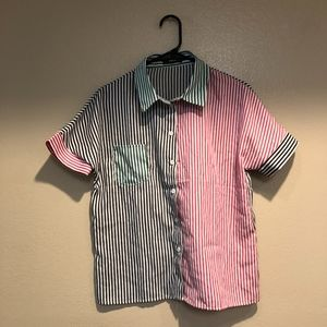 Multi Color/Patter Stripped Button Up {Shein}
